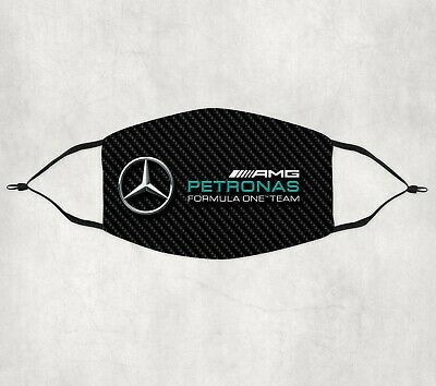 £6.99 • Buy AMG Racing Mercedes Hamilton F1 Car Cotton Face Mask Covering Adults/Youth/Kids