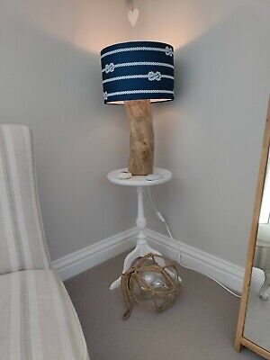 £40 • Buy Unique Handmade Driftwood Table Lamp With Shade