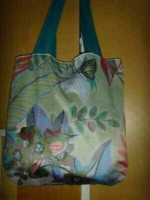 £12.99 • Buy  BUTTERFLY BIRD PRINTED MULTI PASTEL FABRIC 14  SHOULDER  Bag  MAGNETIC LINED