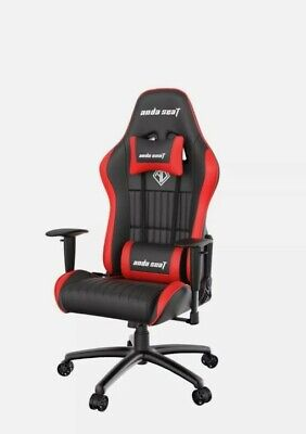 £129.95 • Buy Genuine Anda Seat Jungle Series Pro Gaming Wheeled PVC Leather Chair Black Red