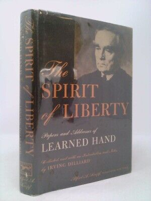 £32.33 • Buy The Spirit Of Liberty;: Papers And Addresses Of Learned Hand  (1st Ed)