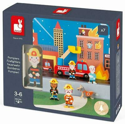 £10.99 • Buy Janod STORY FIREFIGHTERS SET Pretend Play Activity Toy BN