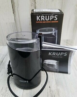 £13.73 • Buy Krups (F2034251) Electric Spice And Coffee Grinder Stainless Steel - Black