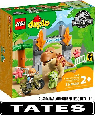 AU49.98 • Buy LEGO 10939 T. Rex And Triceratops Dinosaur Breakout - Duplo From Tates Toyworld