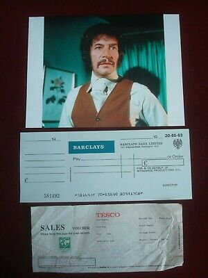 £29.99 • Buy Peter Wyngarde -jason King Signed Receipt  Company Cheque  Press Photo