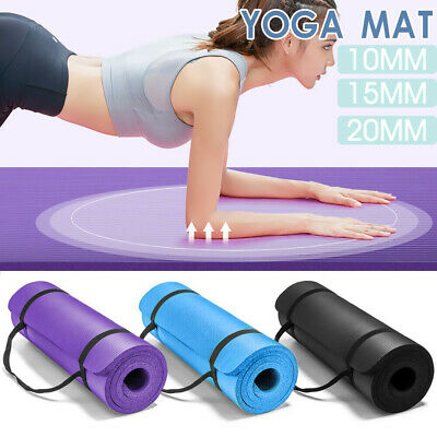 AU39.99 • Buy Yoga Mat Pad 10/15/20MM Thick NBR Nonslip Exercise Fitness Pilate Gym Durable AU