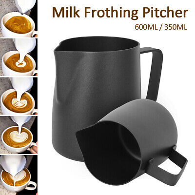£7.59 • Buy Stainless Steel Milk / Coffee Frothing Jug Frother Latte Container Metal Pitcher