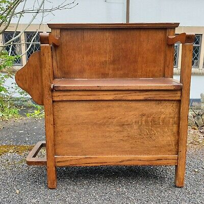 £115 • Buy A Pretty Old Vintage Hall Bench Seat With Stick/Umbrella Stand & Storage Space