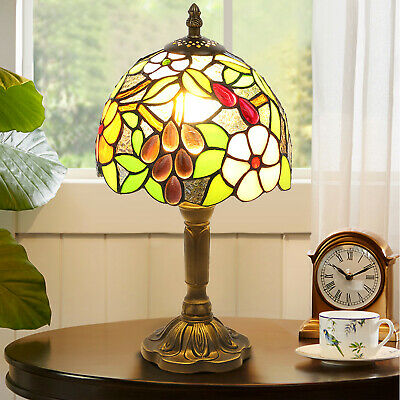 £26.98 • Buy Tiffany Retro Style Table Lamp Handmade Art Bedside Table Lamp Stained Glass UK