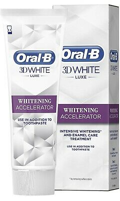 View Details 3x Oral-B 3D White Luxe Teeth Whitening Accelerator 75ml BBE 06/2020 • 5.99£