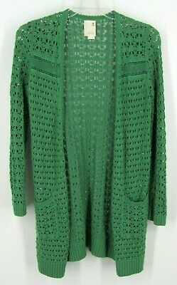 $ CDN28.49 • Buy Anthropologie  Blythe Eyelet Cardigan  By Far Away From Close, Small, Green