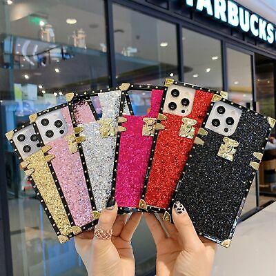 $ CDN7.77 • Buy Bling Glitter Square Phone Case For Samsung Galaxy S21 S20 S10 S9 Ultra Note 10