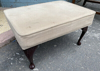 £24.80 • Buy Vintage Foot Stool Rest Seat With Queen Anne Legs