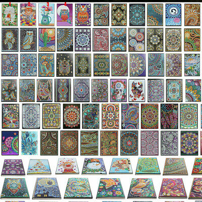 AU12.15 • Buy DIY Special Shaped Diamond Painting 50 Pages A5 Notebook Art Diary Book