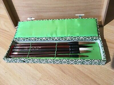 £5.20 • Buy 5 Piece Brush/Pen Set Retro Chinese Calligraphy Writing Watercolor Ink Painting