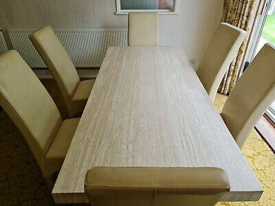£199 • Buy Solid Marble Dining Table And 6 Chairs In Good Condition