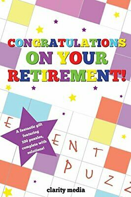£5.49 • Buy Congratulations On Your Retirement Puzzle Book By Media, Clarity Book The Cheap