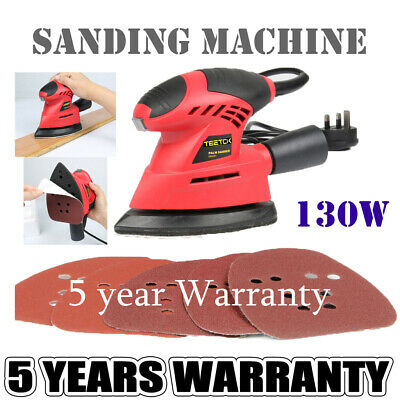 £20.30 • Buy Electric Detail Mouse Palm Hand Sander Polisher Wood Wall 6x Sanding Sheets 130W