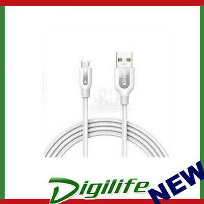 AU25 • Buy Anker Powerline+ Usb To Micro Usb-b Cable 0.9m White With Pouch A8142h21