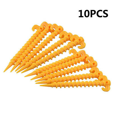 £6.91 • Buy Plastic Tents Hook Stakes Ground Support Nails Peg Screw Shelter Camping Access
