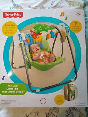 £15 • Buy Fisher Price Rainforest Open Top Take-Along Swing