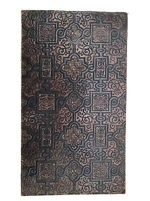 £10 • Buy Vintage Embossed Coloured Leather Remnant