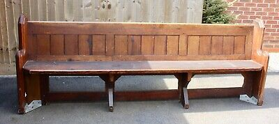 £295 • Buy Antique Pine Victorian Genuine Church Pew Bench Reclaimed From Ratby Church