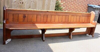 £325 • Buy Antique Pine Victorian Genuine Church Pew Bench Reclaimed From Ratby Church