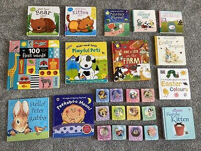 £16.50 • Buy Large Baby Board Books Bundle 25 Books Flaps Touchy-Feely Usborne Peter Rabbit