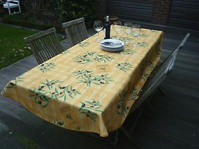 £22.61 • Buy Tablecloth Provence 150x240 CM Oval Yellow Olivenmotiv From France Non-Iron