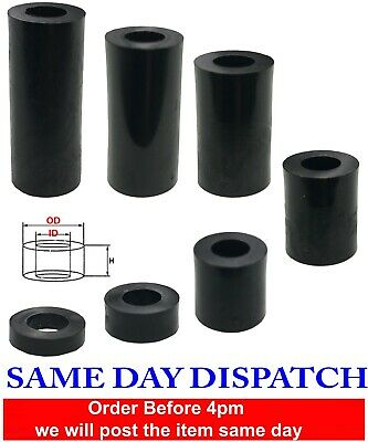 £2.75 • Buy Nylon Plastic BLACK OD-1.5 Spacers Quality Strong Washers Standoff (pack Of 10)