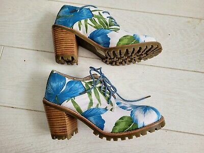 £16 • Buy F Troupe Floral HAWAII Commando Laced Ankle Boots Size 8 NEW VERY PALOMA FAITH