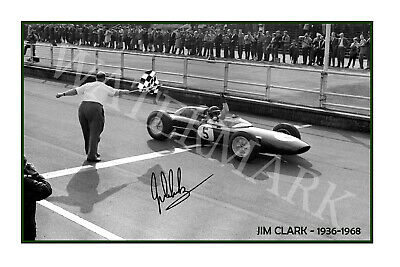AU27.85 • Buy Jim Clark F1 World Champion Signed 12x18 Inch Photograph Poster- Top Quality