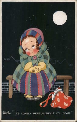 £10.90 • Buy Chloe Preston It's Lonely Here Without You,Dear Valentine's Postcard Vintage
