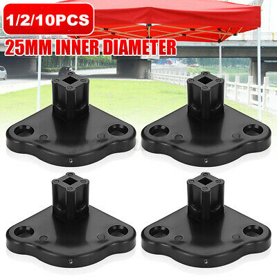 AU10.49 • Buy 1/2/4/10x Gazebo Replacement Base Plate Tent Foot Spare Part 20mm Inner Diameter