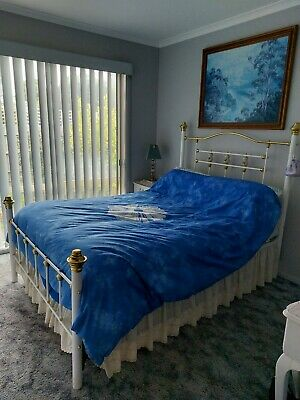 AU160 • Buy Double Bed Ensemble With Brass Features