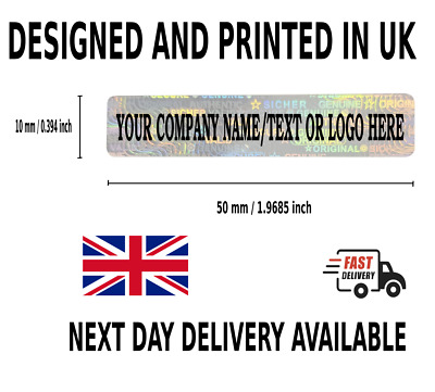 £14.99 • Buy Personalized WARRANTY Hologram Label Sticker Void If Removed Tamper Proof CUSTOM