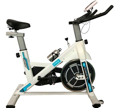 £119.95 • Buy Spin Excercise Bike Fitness Cardio Training Gym Home Sports Fat Burn Pro White