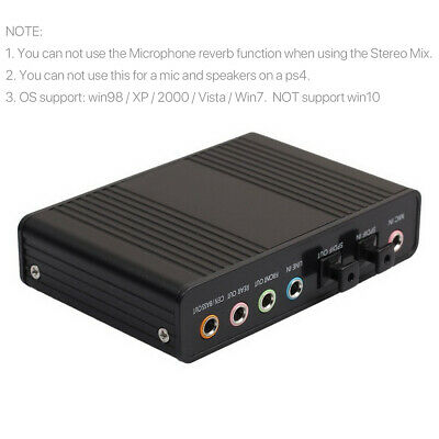 £11.99 • Buy External Sound Card Audio Output Adapter 6 Channel 5.1 SPDIF USB Optical For PC