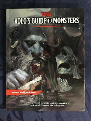 AU60 • Buy D&D Volo's Guide To Monsters - Hard Cover 5th Edition Book Dungeons And Dragons