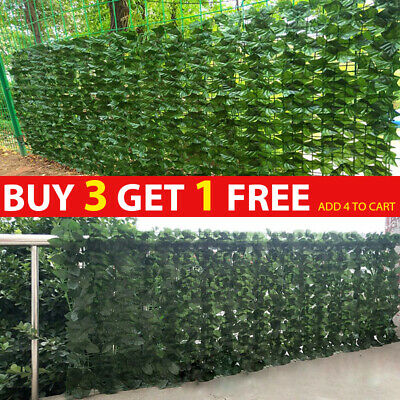 £6.49 • Buy Artificial Faux Ivy Leaf Hedge Panels Roll Privacy Screening Garden Fence Board