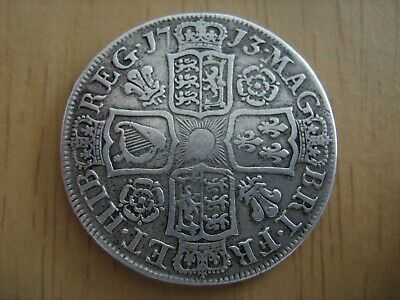 £179.50 • Buy 1713 Roses & Plumes Halfcrown Half Crown - Queen Anne - A Lovely Coin