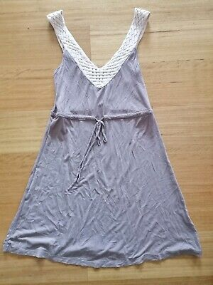AU14.95 • Buy Women's Forever New Size 8 Soft Shift Style Dress Detailed Straps Tie Up Waist