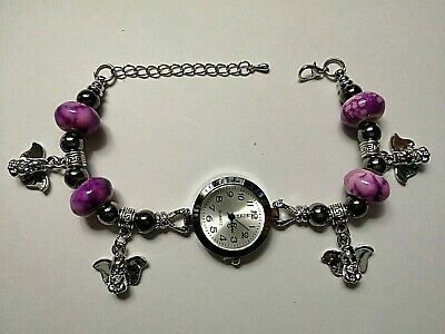 £10.99 • Buy Handmade DUMBO Charm Bracelet Watch With 4 Silver Charms