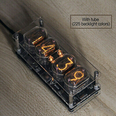 £62.79 • Buy IN-12 Glow Tube Fluorescent Nixie Clock 225 Colors Light Display Time Date