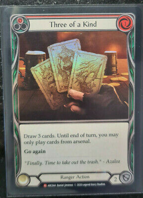 £11.93 • Buy THREE OF A KIND - MAJESTIC FOIL - Flesh And Blood Tcg FaB Arcane Rising