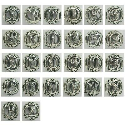 AU42.81 • Buy New Authentic Pandora Charms Letters Alphabet Bead Sterling Silver