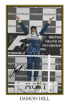 AU27.85 • Buy Damon Hill Signed 12x18 Inch Photograph Poster- Top Quality F1 World Champion