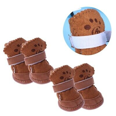 £5.90 • Buy 4Pc Snow Boots Small Durable Casual Dog Shoes For Winter Puppy