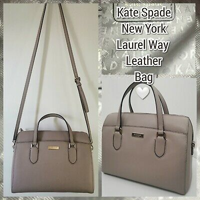 $ CDN97.81 • Buy Kate Spade Leather Bag Laurel Way Hand /shoulder Tote Taupe Excellent Condition